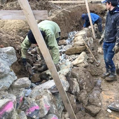 「石積み学校の視察に徳島へ」